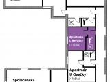 Půdorys - Apartmán U Berušky